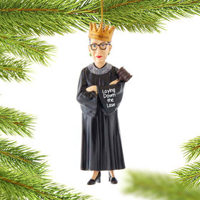 Personalized Ruth Ginsburg Christmas Ornament