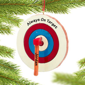 Personalized Axe Throwing Christmas Ornament