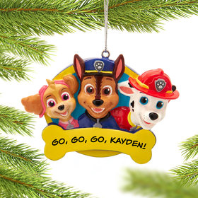 Personalized Paw Patrol Christmas Ornament