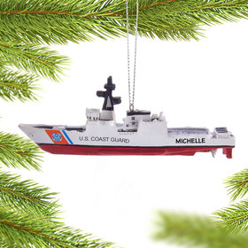 Personalized U.S. Coast Guard Ship Christmas Ornament