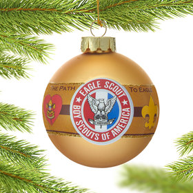 Personalized Eagle Glass Ball Christmas Ornament