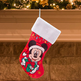 Mickey with Present Christmas Stocking