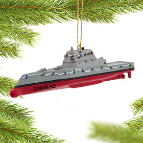 Personalized Navy Destroyer Christmas Ornament
