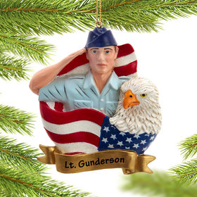 Personalized USAF Airman Christmas Ornament