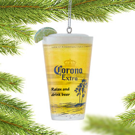 Corona Cup with Lime Christmas Ornament
