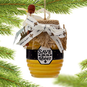 Personalized Honey Jar Christmas Ornament