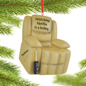 Personalized Recliner Chair Christmas Ornament