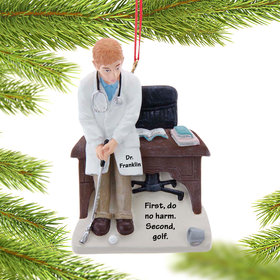 Personalized Golf Doctor Christmas Ornament