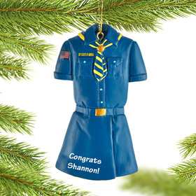 Personalized Girl Scout Christmas Ornament