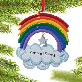 Personalized Resin Rainbow Christmas Ornament