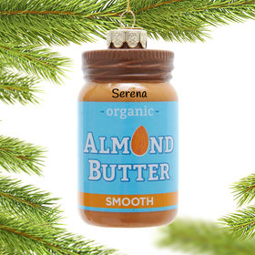 Personalized Almond Butter Christmas Ornament