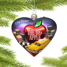 Personalized New York Cityscape Christmas Ornament