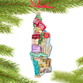 Personalized Manhattan Map Christmas Ornament