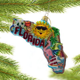 Personalized Florida Cityscape Christmas Ornament