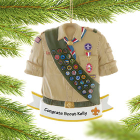 Personalized Eagle Scout Christmas Ornament