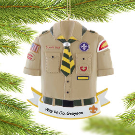 Personalized Boy Scout Christmas Ornament