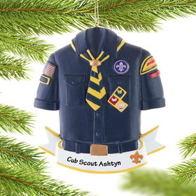 Personalized Cub Scout Christmas Ornament