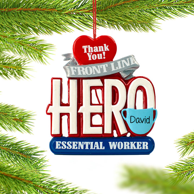 Essential Worker 2020 Christmas Ball Ornament