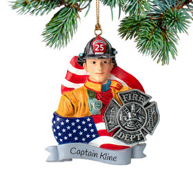 Personalized Fireman Christmas Ornament