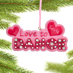 Personalized I Love Dance Christmas Ornament