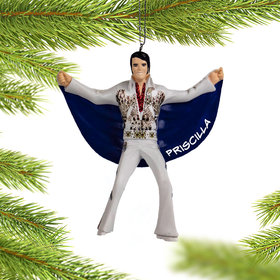 Elvis in Eagle Suit Christmas Ornament