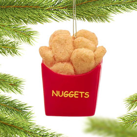 Personalized Chicken Nuggets Christmas Ornament