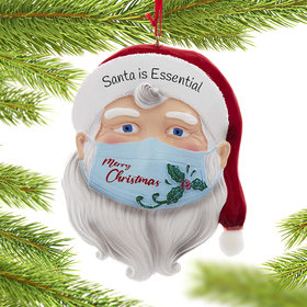 Personalized Masked Santa Ornament