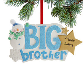 Personalized Big Brother Snowman Christmas Ornament