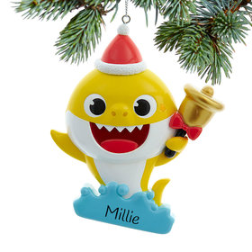 Personalized Baby Shark Christmas Ornament