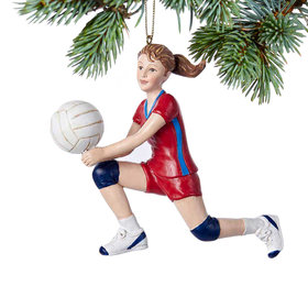 Personalized Volleyball Girl Christmas Ornament
