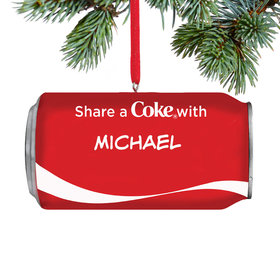 Personalized Share a Coke Can Christmas Ornament