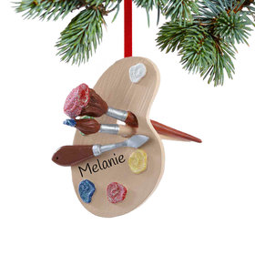 Personalized Artist's Palette Christmas Ornament