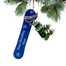 Personalized Snowboard Christmas Ornament
