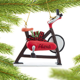 Personalized Exercise Bicycle Christmas Ornament