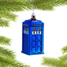 Personalized Doctor Who Tardis Christmas Ornament