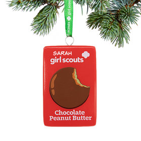 Personalized Girl Scouts of USA Chocolate Peanut Butter Christmas Ornament