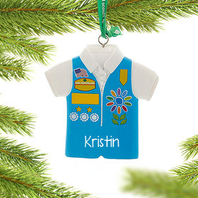 Personalized Girl Scouts of USA Daises Vest Christmas Ornament