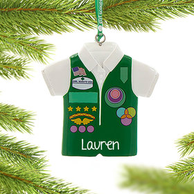 Personalized Girl Scouts of USA Junior Vest Christmas Ornament