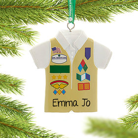 Personalized Girl Scouts of USA Cadette Vest Christmas Ornament