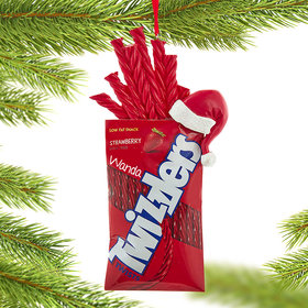 Personalized Twizzlers With Hat Christmas Ornament
