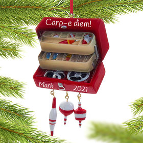 Personalized Tackle Box Christmas Ornament