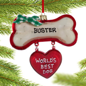 Personalized World's Best Dog Christmas Ornament