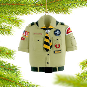 Personalized Boy Scout Shirt Christmas Ornament