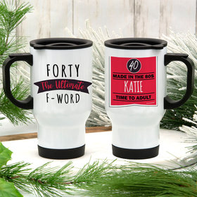 Personalized Ultimate F-Word Stainless Steel Travel Mug (14oz)