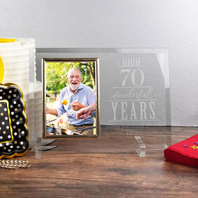 Personalized Picture Frame Wonderful Years