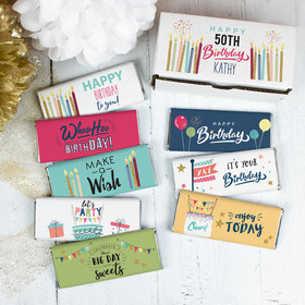 Personalized Birthday Wish Candy Gift Box Hershey's Chocolate Bars (8 Pack)