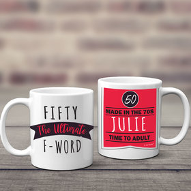 Personalized Ultimate F-Word 11oz Mug Empty