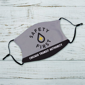 Personalized Safety First Adult Face Mask