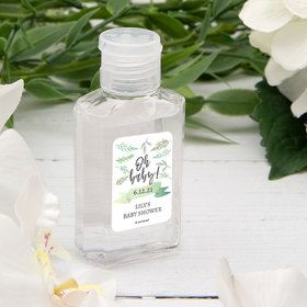 Personalized Baby Shower Hand Sanitizer 2 oz Bottle - Oh Baby!