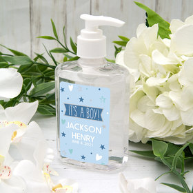 Personalized Baby Shower Hand Sanitizer 8 oz Bottle - It's A Boy!